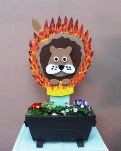 ライオンの火の輪くぐり