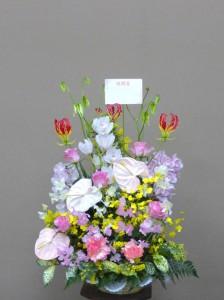 散髪屋さんのオープンにいろいろな春のお花のオンパレード