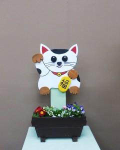 開店祝いに可愛い招きネコ