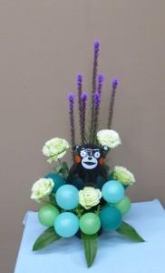 リアトリスの花火とクマモンバルーン
