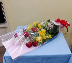 受賞祝いの花束