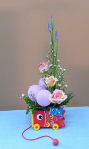 5月5日端午の節句 こいのぼりの花車 花ショウブとバルーン
