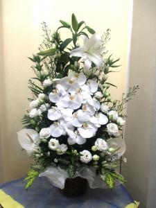 【かご花】お供え用花かご