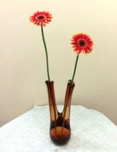岩田ガラスシリーズ【37】とてもシックな色合いのふたまた花瓶02