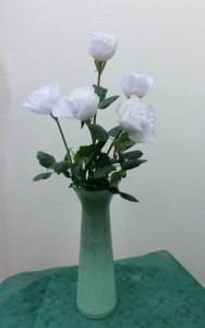 岩田ガラスシリーズ【46】春を彩る若竹色の花瓶02