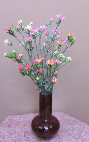 岩田ガラスシリーズ【42】あめ色のだるま花瓶02