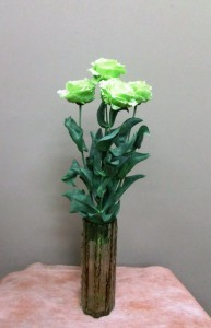 岩田ガラスシリーズ【63】茶鼠色の結晶のような花瓶02