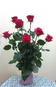 岩田ガラスシリーズ【50】ピンクの濃淡が美しい花瓶02