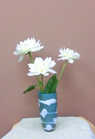 岩田ガラスシリーズ【61】白波模様の花瓶02