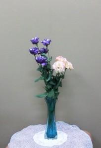 岩田ガラスシリーズ【62】サファイアブルーの花瓶02