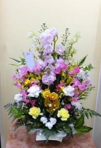 【アレンジメント】春分の日・お彼岸のお供え、ふるさとのご先祖様に-その1