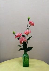 岩田ガラスシリーズ【69】網目模様のグリーンの水差し02