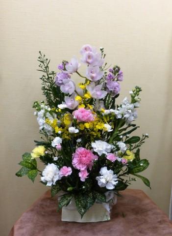 【アレンジメント】春分の日・お彼岸のお供え、ふるさとのご先祖様に-その5