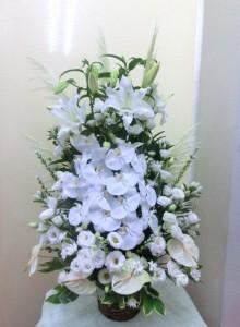 初盆用花かご(白上がり)
