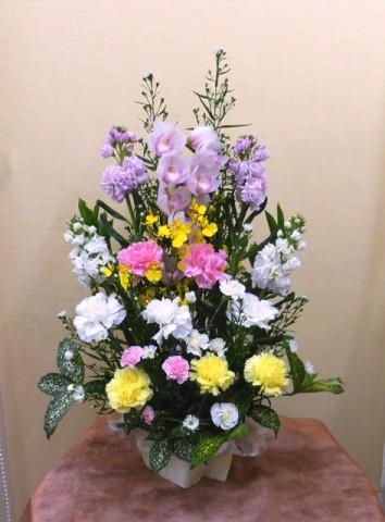 【アレンジメント】春分の日・お彼岸のお供え、ふるさとのご先祖様に-その3