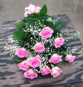 【花束】ダンスの発表会のお祝いにバラの花束