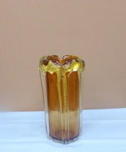 岩田ガラス・飴色とゴールドの高級感溢れる器01