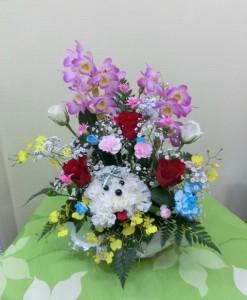 【入園祝い】動物アレンジで可愛らしくプレゼント01