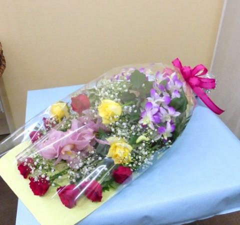 【花束】還暦祝いの花束01