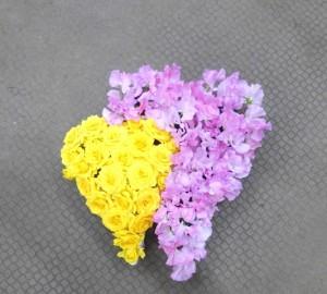 【フラワーバレンタイン】バラとスイトピー