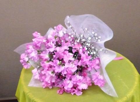 【花束】フラワーバレンタイン「スイトピーの花束」