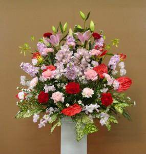 パン屋さんのオープンにいろいろなスタンド花